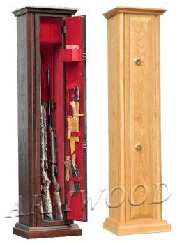 Оружейные сейфы с отделкой натуральным дубом Armwood-53.074