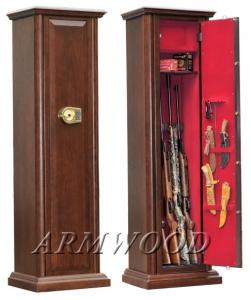 Оружейные сейфы с отделкой натуральным дубом Armwood-95 EL.