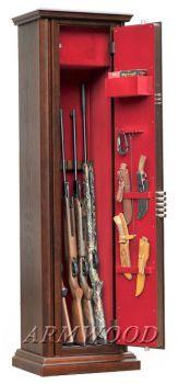 Оружейные сейфы с отделкой натуральным дубом Armwood-95 G