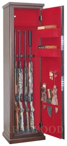 Оружейные сейфы с отделкой натуральным дубом Armwood-55.074